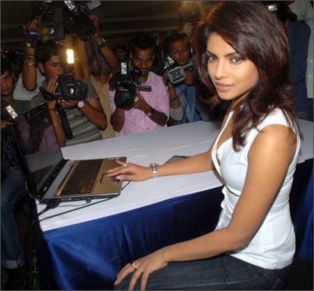 Priyanka Chopra At The Launch Of Pyaar Impossible Website