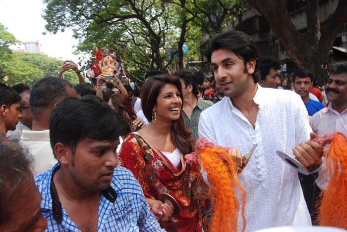 Priyanka With Ranbir Kapoor Smiling Stills