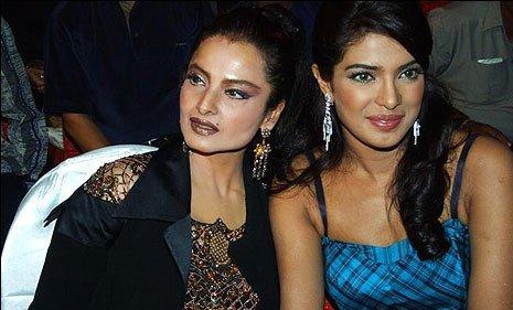 Rekha With Priyanka Chopra Nice Look