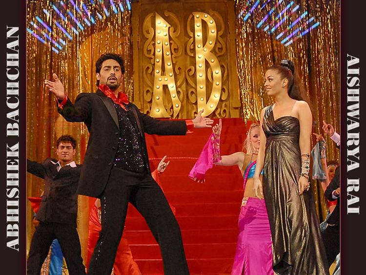 Abhi Dancing Pic and Aishwarya Standing Photo