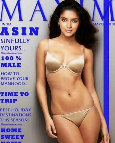 Asin Thottumkal Bikini Hot Pic For Maxim