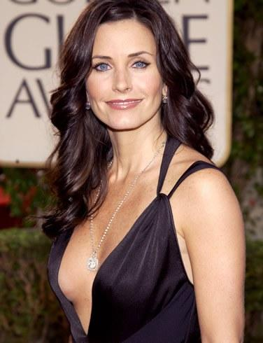 Courteney Cox Sexy Cleavages Exposing Sexy Still