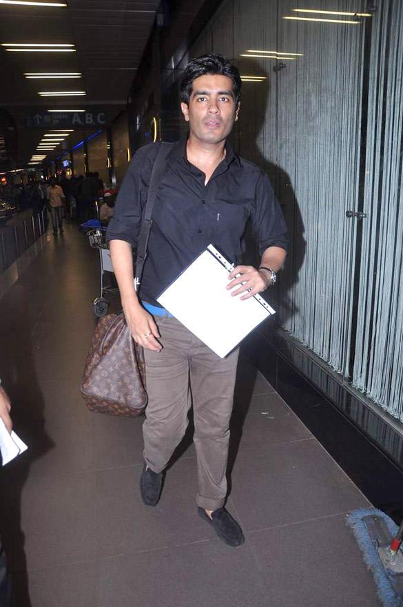 Manish Malhotra Jet Out To London