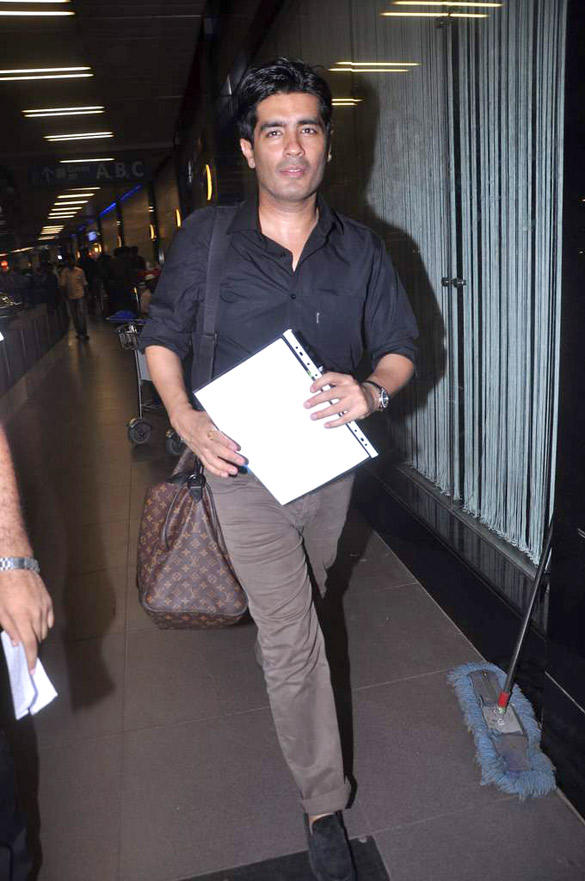 Manish Malhotra Leave for London Photo