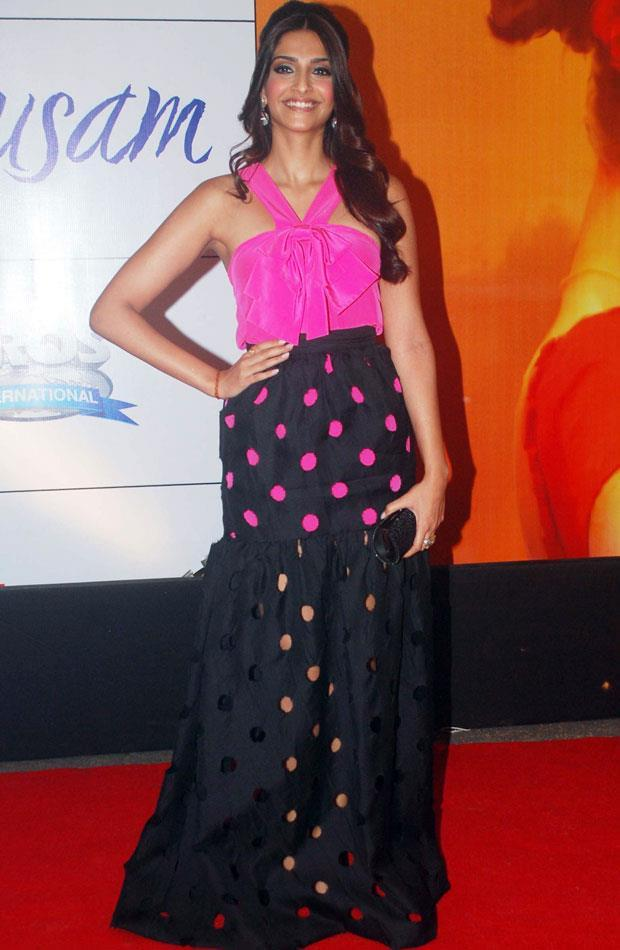 Sonam in Prabal Gurung Dress at Mausam Premiere in Great Imax Cinemas in Mumbai