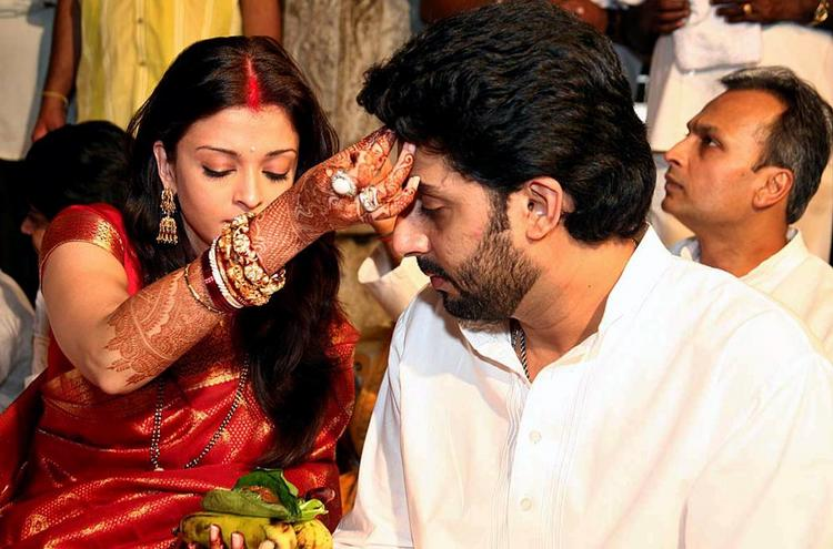 Aish and Abhi at A Temple