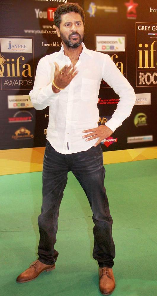 Style Icon Prabhu Deva at IIFA Rocks On Green Carpet