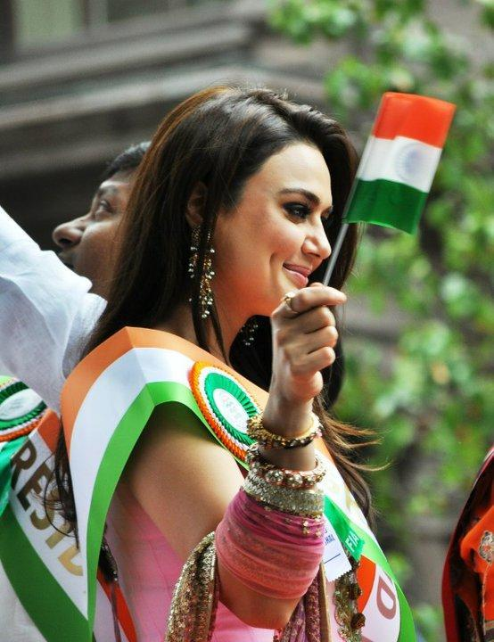 Preity Zinta at India Independence Day Parade in New York
