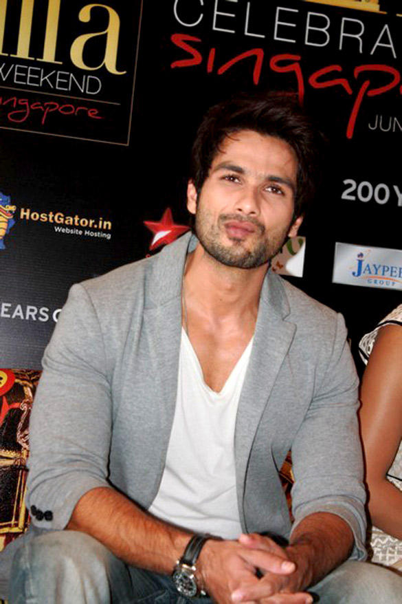 Shahid Kapoor At The Promotion Of Teri Meri Kahaani At IIFA