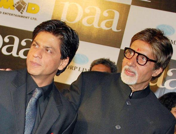 Shahrukh Khan With Big B at Paa Premiere