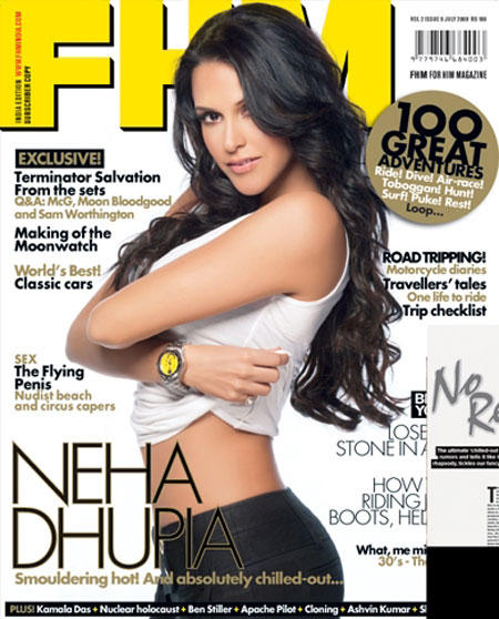 Neha Dhupia FHM Magazine Pic