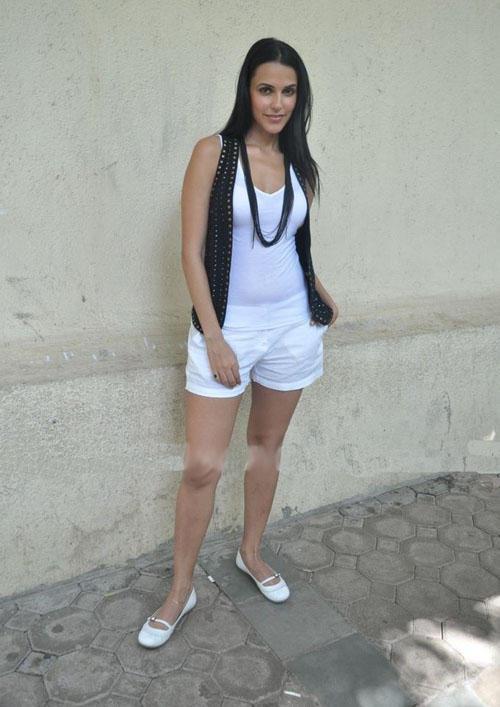 Neha Dhupia Mini Skirt Stylist Photo