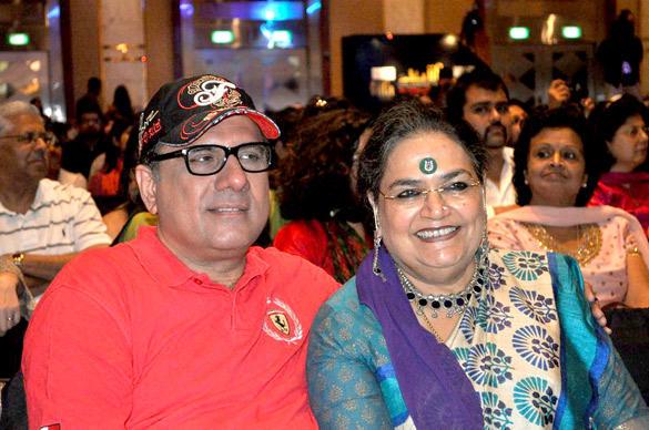 Boman Irani and Usha Uthup at IIFA 2012 Music Workshop at Singapore