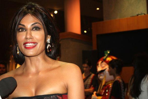 Chitrangada Singh in Floral Gucci Maxis For IIFA Rocks Fashion Show Event