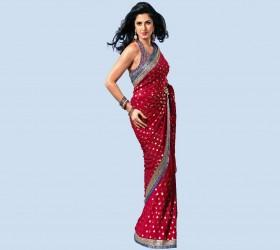 Katrina Kaif Latest Photo With Red Gorgeous Saree