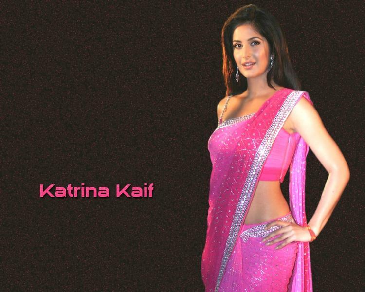 Sexy Katrina Kaif In Pink Saree