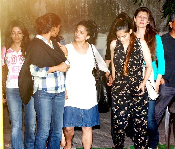 Sangeeta Bijlani,Seema Sachdev Watches a Film at Suburban Theatre