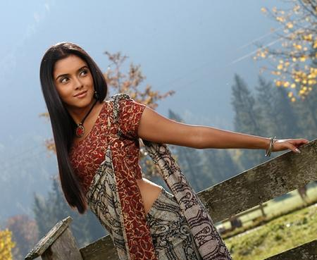 Asin Thottumkal Sexy Saree Photo