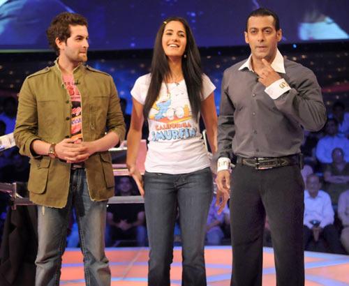 Katrina,Salman and Neil In Dus Ka Dum