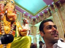 Salman Khan at Ganesh Pooja