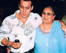 Salman With Mom Salma