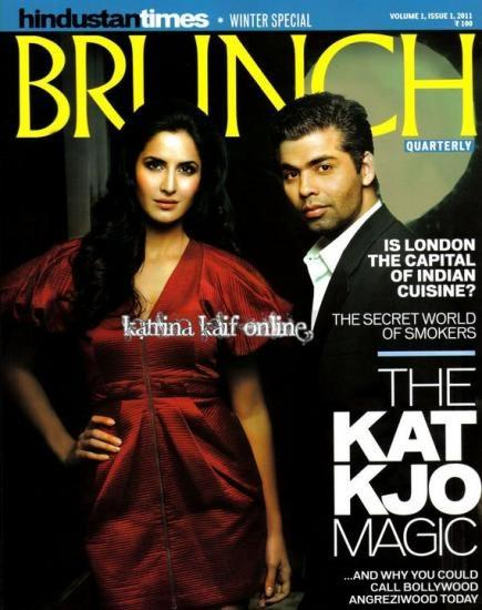 Karan Johar and Katrina Magazine Pic
