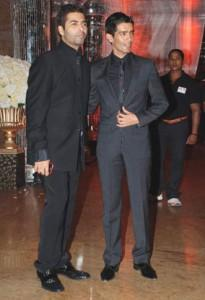 Karan Johar Poses With Manish For Photo Shoot