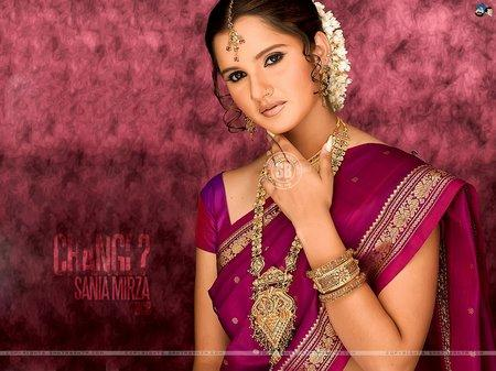 Sania Mirza Saree Small Picture