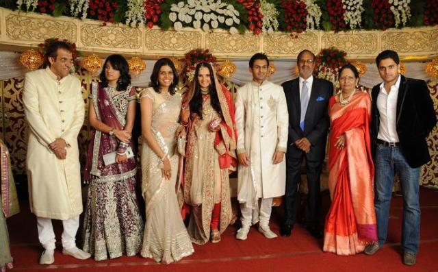 Shoaib Malik and Sania Mirza Reception Picture