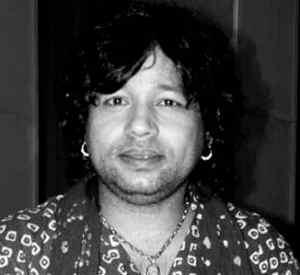 Kailash Kher Black and White Photo