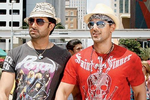 Abhishek Bachchan and John Abraham took their 'bromance' to another level in Dostana
