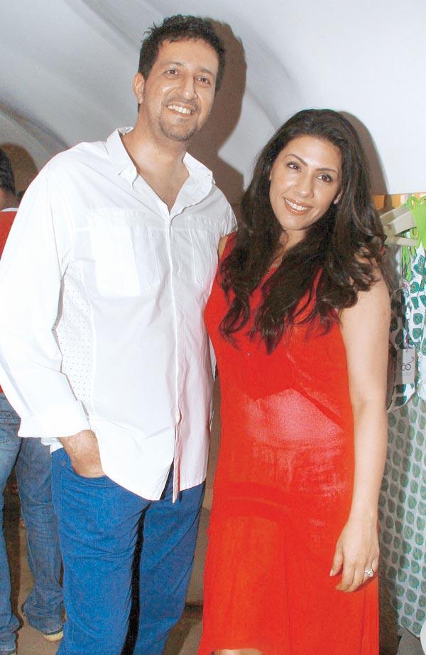 Sulaiman and Reshma Merchant at The Lauch of International Swimwear Brand