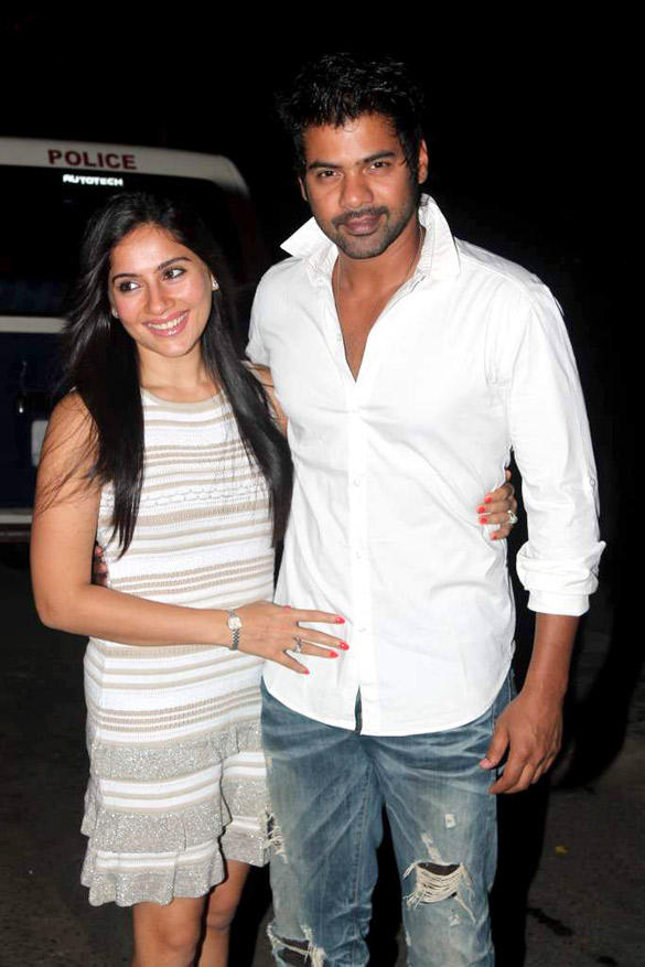 Shabbir with wife Kanchi Kaul at Ekta Kapoor's Birthday Bash