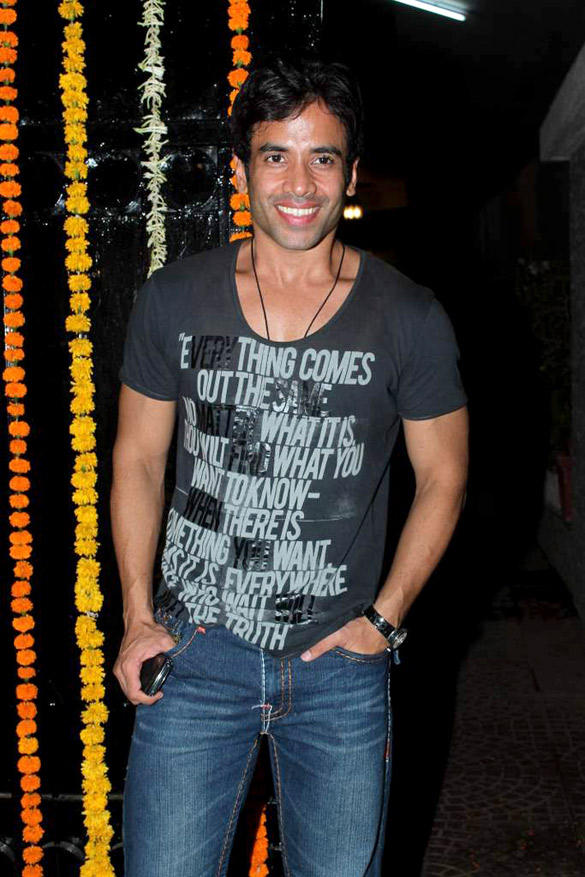 Tusshar Kapoor at Ekta Kapoor's Birthday Bash