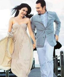 Kareena and Saif Romance Pic In Kurbaan