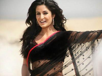 Katrina Kaif In Black Trans Parent Saree Song Still