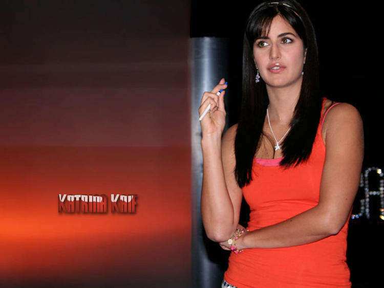 Katrina Kaif Wallpapers Orange Skirt