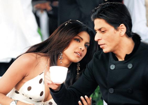 Shahrukh and Priyanka Discussion Pic