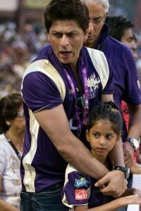 Shahrukh Khan With Daughter Suhana at IPL