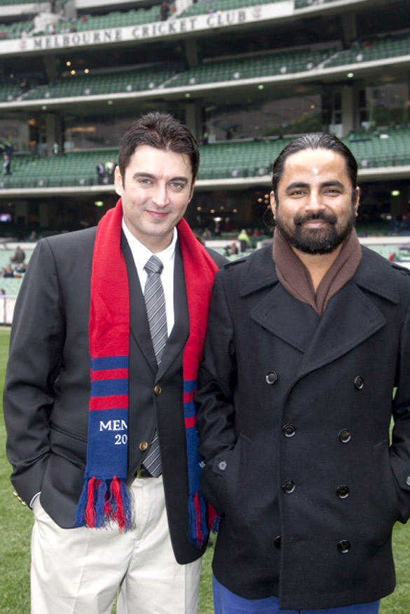 Jugal Hansraj at Melbourne Cricket Ground Museum