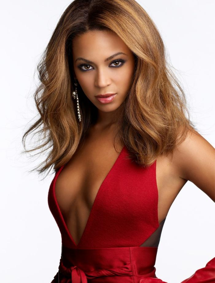 Beyonce Knowles Hot Awesome Still In Red Dress