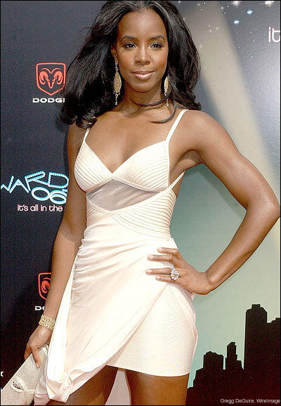 Kelly Rowland Sexy Pic In White Dress