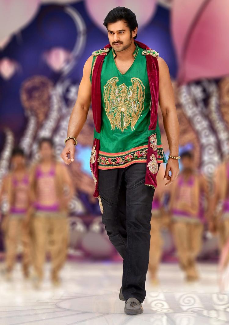 Prabhas Dancing Photo Still From Movie Mirchi
