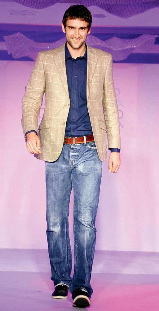Marin Cilic Walks On The Ramp At Marks And Spencer Fashion Show