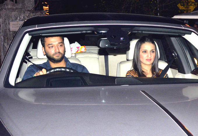 Sunny With Wife Anu Spotted At Ritu Nanda New Year Bash