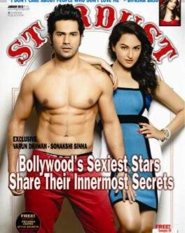 Varun And Sonakshi On The Stardust Cover For The January 2013 Issue