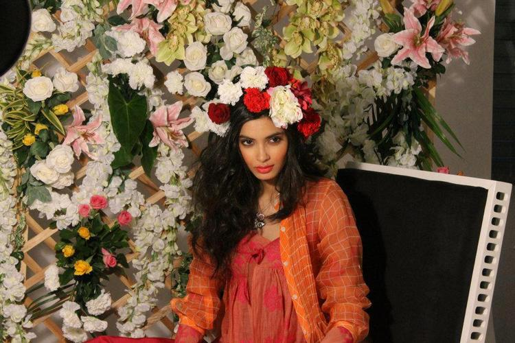 Diana Penty With Flowers Nice Photo Shoot For Verve Jan 2013 Issue