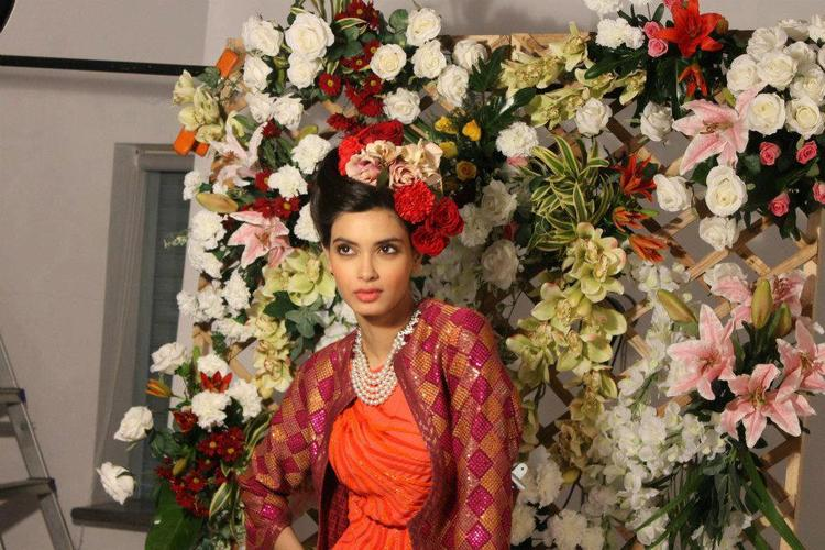 Diana Penty Posed With Flowers Photo Shoot For Verve Jan 2013 Issue