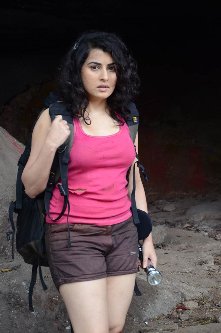 Archana Charming Look Photo Still At Panchami Telugu Movie Press Meet