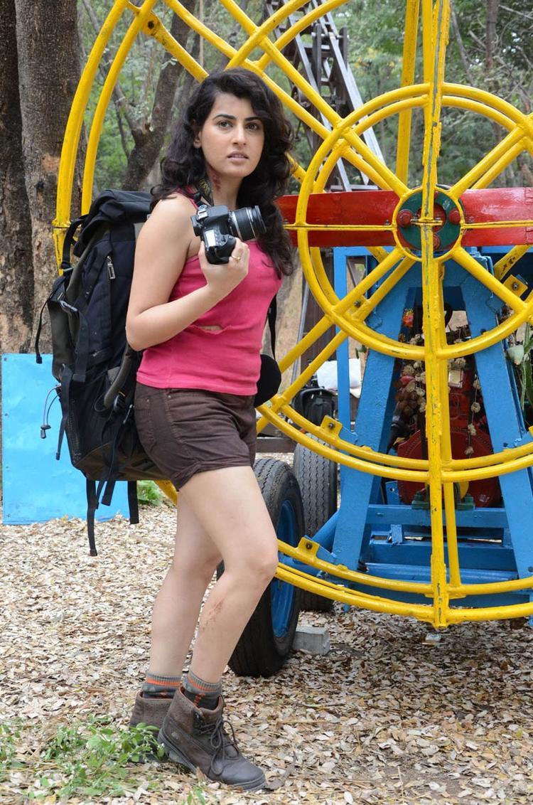 Archana Hot Photo Still In Mini Dress At Panchami Telugu Movie Press Meet